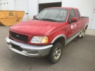 1997 Ford F150 4X4 Extended Cab Pickup C/w 4.6L, A/T, Showing 391,480Kms. VIN 1FTDX1868VKB03075 *Note: Damage To Body*