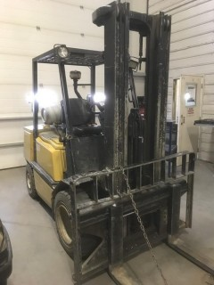 "Yale Model GRP065TG Forklift C/w 4 Cyl, 48"" Forks, Side Shift, 3-Stage, Canopy, Showing 8533 Hrs. SN E177323205V *Note: Item Cannot Be Removed Until Noon August 2 Unless Mutually Agreed Upon*"