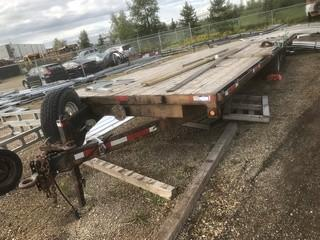 "2006 The Trailer Factory 8'6"" X 24' T/A Eqpt Trailer C/w Pintal Hitch. SN 2T9FT8H2161416250 *Note: Needs Repair, Missing Tire*"