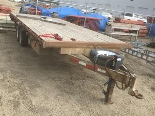 Custom Built 8' X 20' T/A Eqpt Trailer C/w Pintal Hitch *Note: No Serial Number*