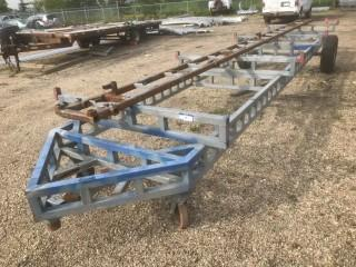 Custom Built 5' X 22' S/A Frame Trailer C/w 2-Front Wheels *Note: No Serial Number*
