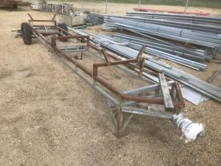 Custom Built 3' X 18' S/A Frame Trailer C/w Ball Hitch *Note: No Serial Number*