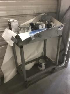 Portable Cart C/w Paint Supplies