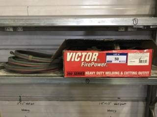 Victor Firepower Oxy/Acetylene Gauges C/w Hose *Note May Require Repair*