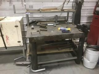 Steel Shop Table C/w Vise