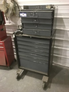 Bottom Tool Box C/w 4-Drawer Storage Unit And Misc Tools