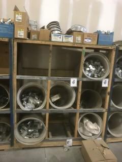 Wood Storage Unit C/w Misc Supplies