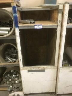 Wood Storage Unit C/w Contents