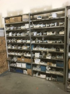 Metal Shelving Unit C/w Misc Supplies