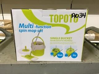 Lot of (2) Topoto Multi-Function Spin Mop Set
