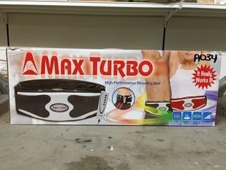 Lot of (2) Max Turbo Performance Slimming Belt