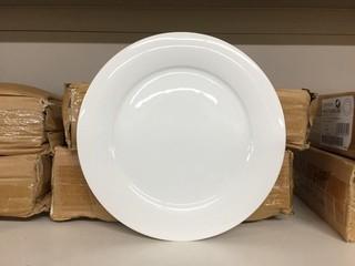 "Lot of (12) Porcelain Mid Rim Plates 10"". New"