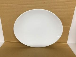 "Lot of (12) White Orbit Oval Coupe Plates 10"". New"