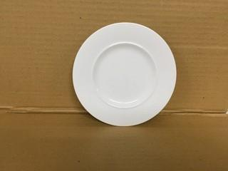"Lot of (12) Ambience White Standard Rim Plates 6"". New"