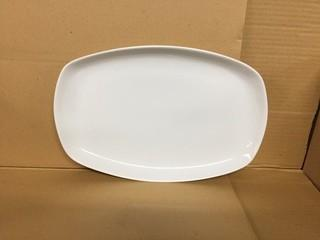 "Lot of (12)  Porcelain Large Rectangular Plate 14""x 9.25"". New"