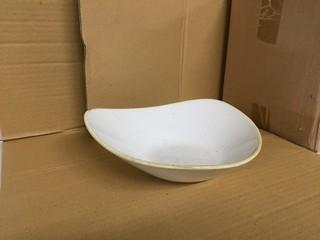 "Lot of (12) White Lotus Bowls 9"". New"